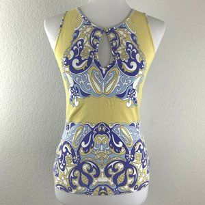 Blumarine Paisley Printed Sleeveless Top Size 42I